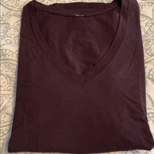 EUC Lululemon Love Tee sz 8 Pelt color (burgundy)